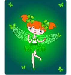 clover fairy vector image vector image
