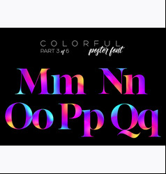 colorful bright neon typeset electric pink vector image vector image