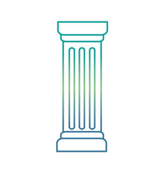 column pillar isolated icon vector image