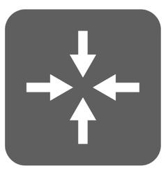 Compress arrows flat squared icon vector