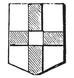 Cross quarter-pierced was originally blazoned vector