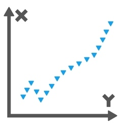 Dotted function plot flat symbol vector