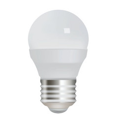 energy saving light bulb on white background vector image