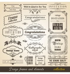 Flourish Border Corner and Frame collection vector image vector image