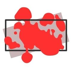 Frame spot splatter of red paint vector