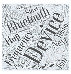 How bluetooth works word cloud concept vector