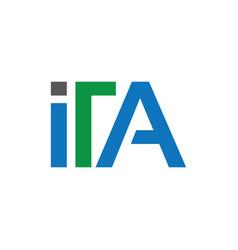 ita letter logo vector image vector image