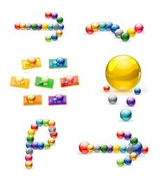 magic decorative elemets vector image vector image
