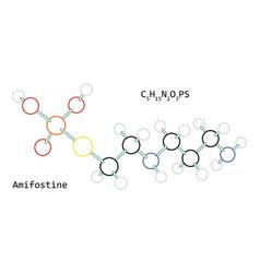 Molecule c5h15n2o3ps amifostine vector