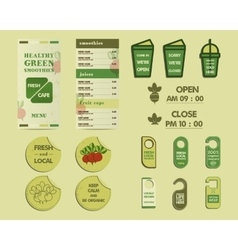 Organic Brand Identity vector image vector image