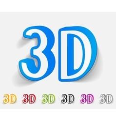 Realistic design element three d vector