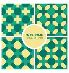 Seamless Geometric Cross Square Vintage vector image