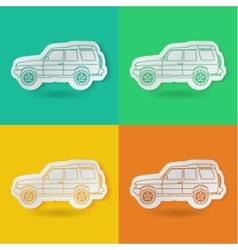 set of car vector image