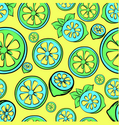 Summer sale seamless background with lemon vector