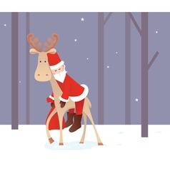 Weary Santa Claus vector image vector image