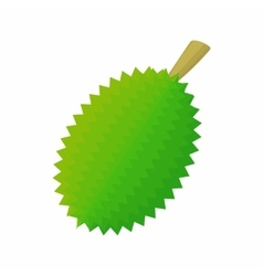 Whole durian icon in cartoon style vector