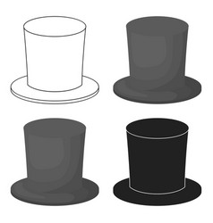 Zylinder icon in cartoon style isolated on white vector