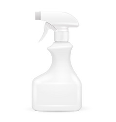 White blank spray pistol cleaner plastic bottle vector