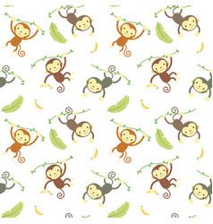 Seamless pattern monkey vector