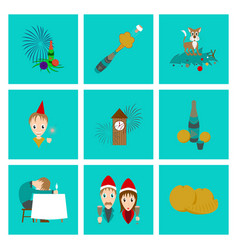 Assembly flat christmas celebration vector