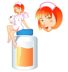 nurse pill fairy vector image