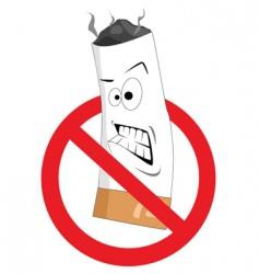 2008186 cartoon no smoking sign vector image vector image