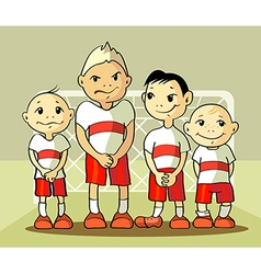 Four soccer player vector