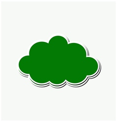 Green stroke cloud vector