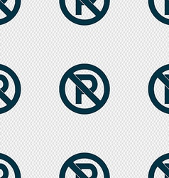 No parking icon sign seamless pattern with vector