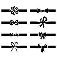 Bow ribbon set vector