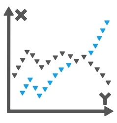 Dotted functions plot flat symbol vector