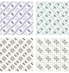 set abstract seamless patterns vector image
