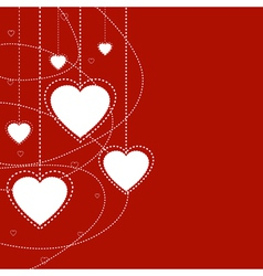 Abstract holiday background with hearts vector image