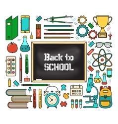 Back school card vector