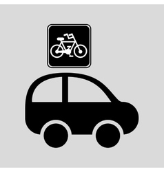 Bicycle route sign graphic vector