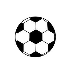 Black silhouette soccer ball element sport vector