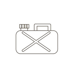 canisters or jerrycan icon vector image