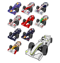 Cartoon formula one vector