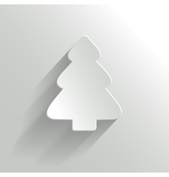 Creative white christmas tree vector