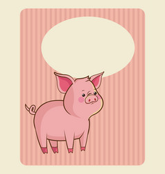 cute piggy poster image vector image