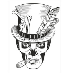 Day of the dead baron samedi drawing vector