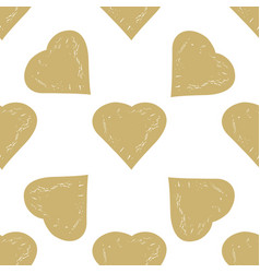 decorative seamless pattern with hearts vector image