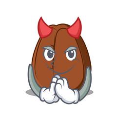 Devil coffee bean mascot cartoon vector