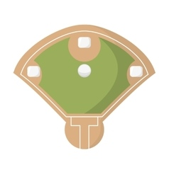 diamond camp baseball icon vector image
