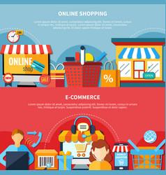e-commerce flyer set vector image