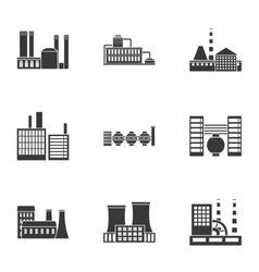 Factory set icons in black style big collection vector