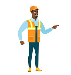 furious builder screaming vector image