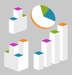 Graph modern infographics set vector