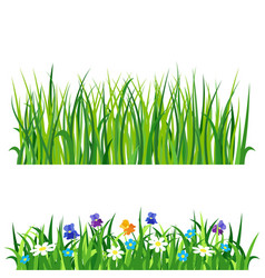 green grass nature design elements vector image vector image