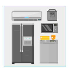 home appliances kitchen equipment domestic vector image
